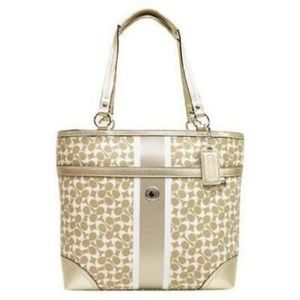 GOLD Coach Chelsea Tote # 15137